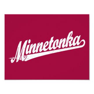 """Logotipo de la escritura de Minnetonka en el Invitación 4.25"""" X 5.5"""""""