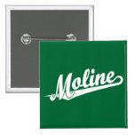 Logotipo de la escritura de Moline en blanco Pin