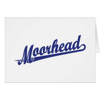Logotipo de la escritura de Moorhead en azul Tarjeta De Felicitación