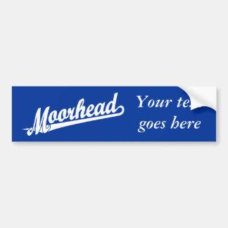 Logotipo de la escritura de Moorhead en blanco Pegatina Para Auto