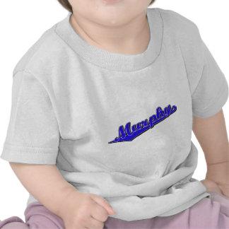 Logotipo de la escritura de Murphy en azul Camiseta
