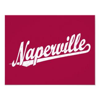 """Logotipo de la escritura de Naperville en el Invitación 4.25"""" X 5.5"""""""