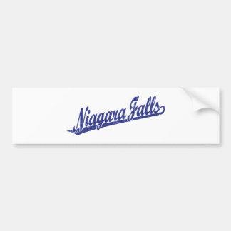 Logotipo de la escritura de Niagara Falls en el az Pegatina Para Auto
