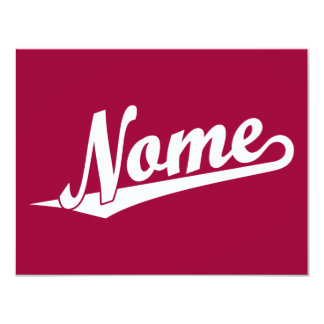 Logotipo de la escritura de Nome en blanco