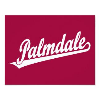Logotipo de la escritura de Palmdale en blanco Invitación 10,8 X 13,9 Cm