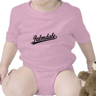 Logotipo de la escritura de Palmdale en negro Trajes De Bebé