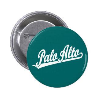 Logotipo de la escritura de Palo Alto en blanco Pins