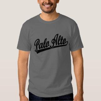 Logotipo de la escritura de Palo Alto en negro Playera