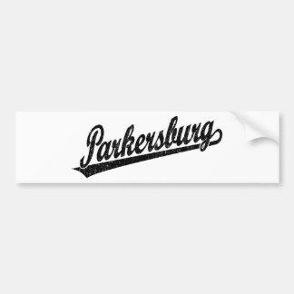 Logotipo de la escritura de Parkersburg en el negr Pegatina De Parachoque