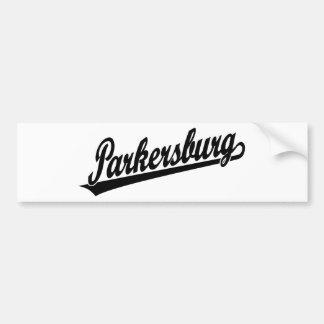 Logotipo de la escritura de Parkersburg en negro Etiqueta De Parachoque