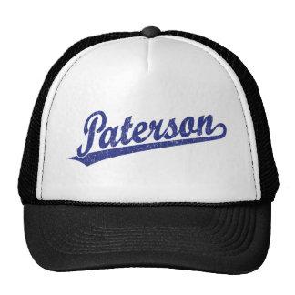Logotipo de la escritura de Paterson en el azul ap Gorro De Camionero