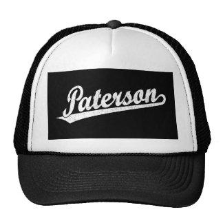 Logotipo de la escritura de Paterson en el blanco  Gorro De Camionero