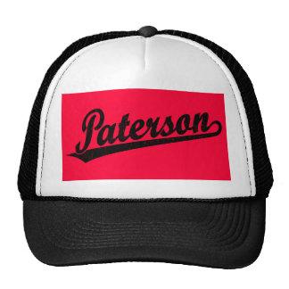 Logotipo de la escritura de Paterson en el negro a Gorro De Camionero