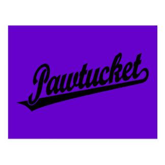 Logotipo de la escritura de Pawtucket en negro Tarjeta Postal