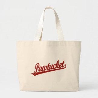 Logotipo de la escritura de Pawtucket en rojo Bolsa