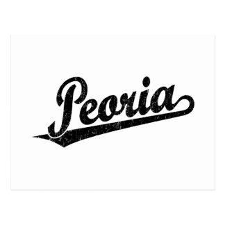 Logotipo de la escritura de Peoria en el negro ape Tarjetas Postales