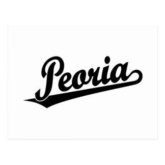 Logotipo de la escritura de Peoria en negro Postal