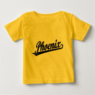 Logotipo de la escritura de Phoenix en negro T-shirts