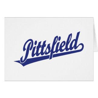Logotipo de la escritura de Pittsfield en azul Tarjeta De Felicitación