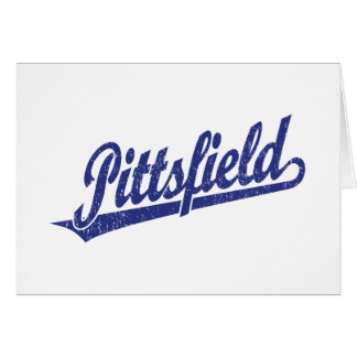 Logotipo de la escritura de Pittsfield en el azul  Tarjeta De Felicitación