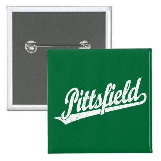 Logotipo de la escritura de Pittsfield en el blanc Pin Cuadrado