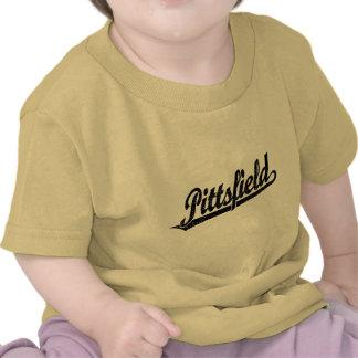 Logotipo de la escritura de Pittsfield en el negro Camiseta