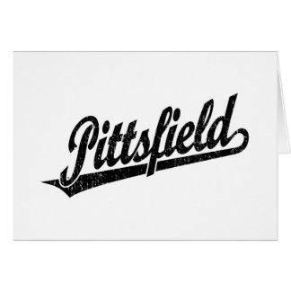 Logotipo de la escritura de Pittsfield en el negro Tarjeta De Felicitación