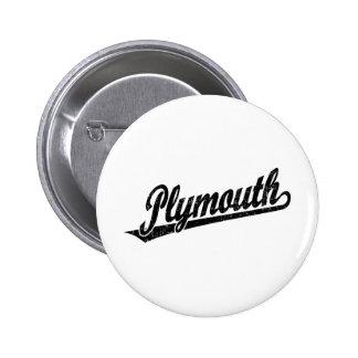 Logotipo de la escritura de Plymouth en el negro a Pin