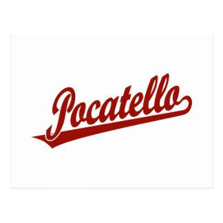 Logotipo de la escritura de Pocatello en rojo Tarjetas Postales
