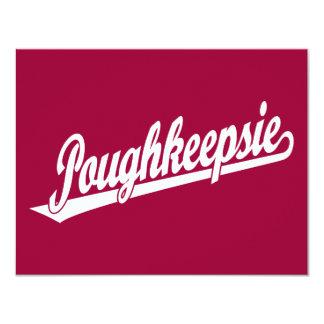 Logotipo de la escritura de Poughkeepsie en blanco