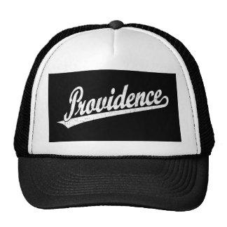 Logotipo de la escritura de Providence en el blanc Gorro De Camionero