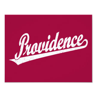 """Logotipo de la escritura de Providence en el Invitación 4.25"""" X 5.5"""""""