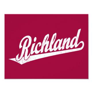 """Logotipo de la escritura de Richland en el blanco Invitación 4.25"""" X 5.5"""""""