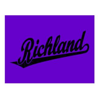Logotipo de la escritura de Richland en el negro a Postales