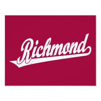 """Logotipo de la escritura de Richmond en el blanco Invitación 4.25"""" X 5.5"""""""