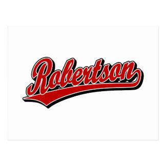 Logotipo de la escritura de Robertson en de lujo r Tarjeta Postal