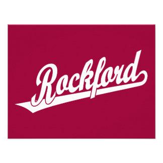 Logotipo de la escritura de ROCKFORD en blanco Anuncios