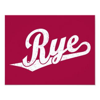 """Logotipo de la escritura de Rye en el blanco Invitación 4.25"""" X 5.5"""""""