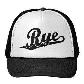 Logotipo de la escritura de Rye en negro Gorros