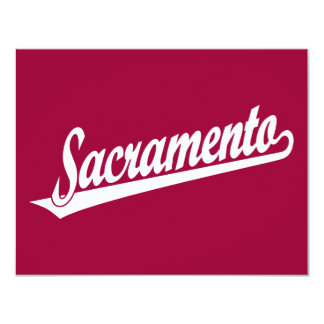 Logotipo de la escritura de Sacramento en blanco Invitación 10,8 X 13,9 Cm