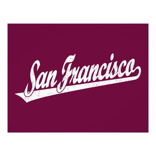 """Logotipo de la escritura de San Francisco en el bl Folleto 8.5"""" X 11"""""""