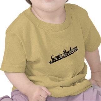 Logotipo de la escritura de Santa Barbara en el ne Camiseta