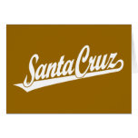 Logotipo de la escritura de Santa Cruz en blanco Tarjeton