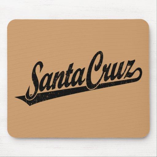 Logotipo de la escritura de Santa Cruz en el negro Mousepad