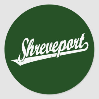 Logotipo de la escritura de Shreveport en el blanc Pegatinas