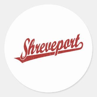 Logotipo de la escritura de Shreveport en el rojo  Pegatinas