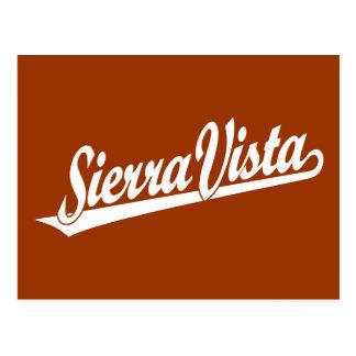 Logotipo de la escritura de Sierra Vista en blanco Postales