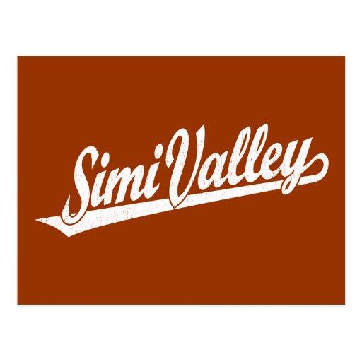Logotipo de la escritura de Simi Valley en el blan Tarjeta Postal
