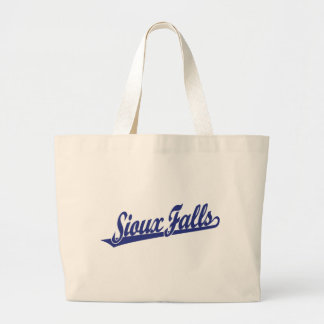 Logotipo de la escritura de Sioux Falls en azul Bolsas