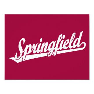 Logotipo de la escritura de Springfield en el Invitaciones Personales
